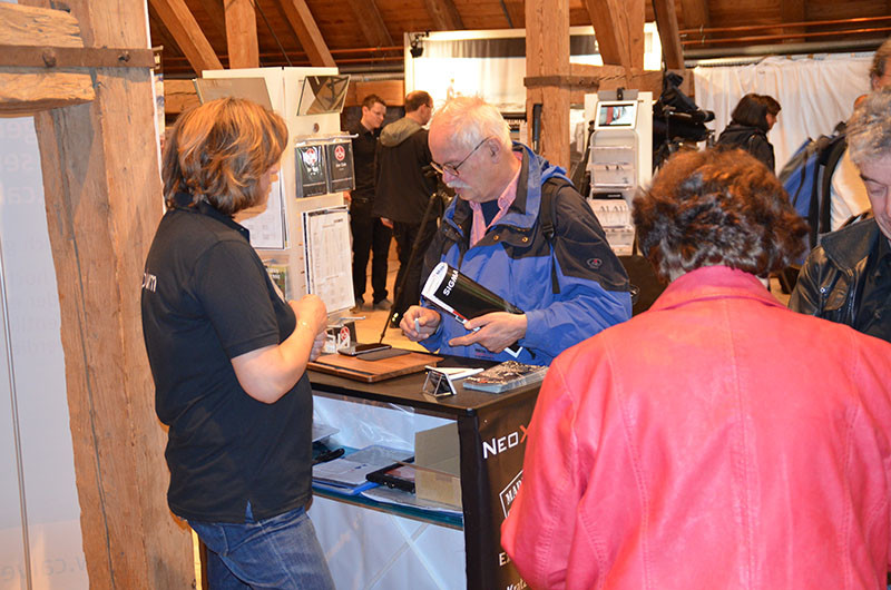 Exhibition stand on international Nature Photo days 2014 in Fürstenfeldbruck