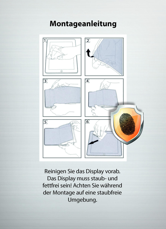 Montage Anleitung Verpackung Displayschutzfolie