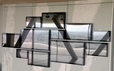 Videowall in Katar entspiegelt